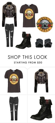 """""""Guns 'n' roses outfit"""" by anna-fuentes-sykes ❤ liked on Polyvore featuring LIST, Burberry, Glamorous, Soda and guns"""