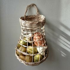 Clyde Oak's Root basket. perfect storage for the kitchen