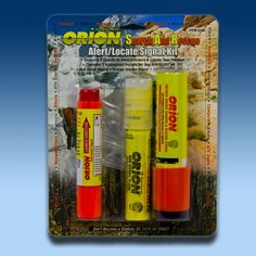 IF YOU WANT TO BE FOUND OR RESCUED. ALERT/LOCATE SIGNAL KIT, 4 PER CASE. INCLUDES 1 EACH RED AERIAL SIGNAL, FIRE STARTER/SIGNAL FLARE AND ORANGE SMOKE SIGNAL. PERFECT KIT TO MAKE RESCUERS AWARE THERE IS AN EMERGENCY AND TO ASSIST IN LOCATING YOUR POSITION. GREAT DAY OR NIGHTTIME SIGNAL. ALL ARE WATERPROOF AND HAVE A SELF CONTAINED IGNITION, NO MATCHES REQUIRED.