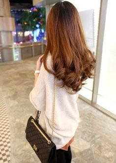 Love, love, love this copper/golden brown hair color!