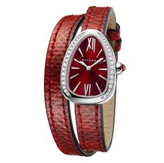 Bulgari Serpenti dark red