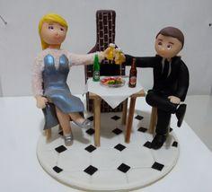 Topo de bolo - Casal de noivos bodas