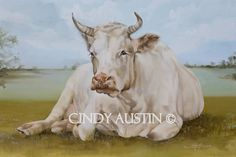 If it's wrong to fall in love with a cow; Cow painting Eulalie giclee print by on Etsy Sheep Paintings, Wall Paintings, Cow Pictures, Fine Art Prints, Canvas Prints, Cow Painting, Miss Mustard Seeds, Cow Art, White Cow