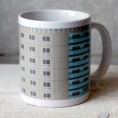 A mug for architects....a brutalist building (DDR Plattenbau) on a coffee cup...this is typical for the Berlin based designlabel s.wert http://www.s-wert-design.de