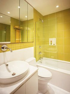 21 Yellow Bathrooms You'd Be Glad to Wake Up To
