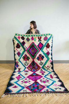 Vibrant geometric rug