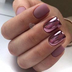Spring Nail Design Ideas You Want to Change Your Nail With 2019 . - Spring Nail Design Ideas With Which You Want To Change Your Nail 2019 – Nail Art – cha - Metallic Nails, Acrylic Nails, Coffin Nails, Pink Chrome Nails, Nail Designs Spring, Nail Art Designs, Spring Design, Chrome Nails Designs, Cute Nails