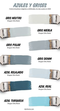 📖 Los Mejores Colores Azul Grisáceos o Gris Azulados | DIYinHome.com Room Design Bedroom, Home Room Design, Diy Bedroom Decor, House Design, Best Bedroom Colors, House Color Palettes, Cozy Room, Paint Colors For Home, Aesthetic Rooms