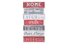 Red Home Wood Print #mycosyhome #next Bed Next, Cosy House, Christmas Wall Art, Types Of Lettering, Interior Design Tips, Next Uk, Front Rooms, Wood Print, Decorative Accessories