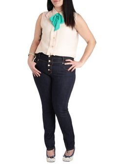 Karaoke Songstress Jeans in Dark Wash by ModCloth love the entire ensemble