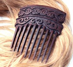 Hair Comb Palisander Wood Handmade | eBay