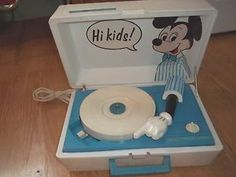 Vintage Blue Sears Solid State Mickey Mouse Record Player | eBay