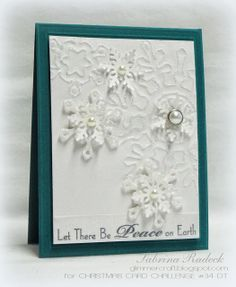 Aspiring to Creativity: Snowflakes! Christmas Card Challenge #34 DT