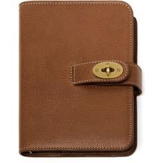 Mulberry Postman's Lock Pocket Book (390 CAD) ❤ liked on Polyvore featuring home, home decor, stationery, accessories, books, brown, filler and oak