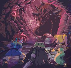 Incredible Chrono Trigger GIF animation fan art!