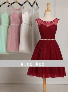 Tank Customize size color black white burgundy Dark pink purple light grey gray green blue Wine Red short bridesmaid Dresses-in Bridesmaid Dresses from Weddings & Events on Aliexpress.com | Alibaba Group