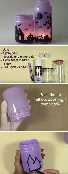 Recycled Glass Jar Luminary