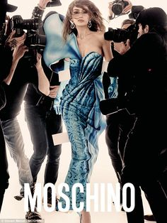 Style star:The couple's relaxed day in comes as Gigi's new advertising campaign for Mosch...