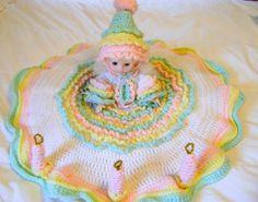 Handmade Happy Birthday Crochet Bed Doll by Rhody on Etsy, $50.00