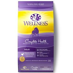 Wellness Complete Health Natural Dry Dog Food Chicken & Oatmeal 30-Pound Bag