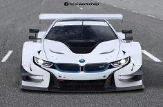 BMW i8 DTM Race Car gets rendered - http://www.bmwblog.com/2016/03/11/bmw-i8-dtm-race-car-gets-rendered/