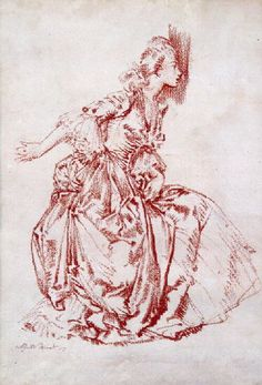 original red chalk drawing of Madame du Barry