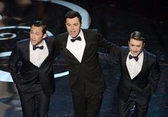 Seth MacFarlane, Joseph Gordon-Levitt, and Daniel Radcliffe performed at the #Oscars | Click to see more of the 100 best photos from the night!