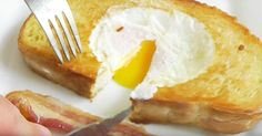 Eggs in bread the UK's yummiest breakfast craze -- here's how easy it is to make Eggs In Bread, Egg Toast, Tasty, Yummy Food, Camembert Cheese, Mashed Potatoes, French Toast, Breakfast, Ethnic Recipes