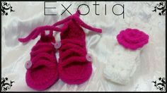Crotchet Baby Open Shoes and Head Band