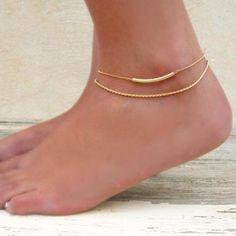 Gold Anklet Set