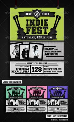 Alternative Rock Flyer Template  Flyer Template Alternative And
