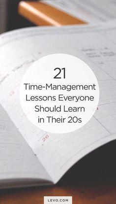 Time Management tips & tricks for #20-somethings. - http://levo.com #careeradvice #career