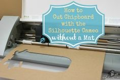 Blog post at Joy's Life :   One of my Facebook friends, Jennnifer K., asked me if it was possible to cut chipboard with the Silhouette Cameo without using a mat.  [..]