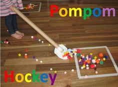 Physical Therapy Idea of the Week: Pom Pom Hockey  -  Pinned by @PediaStaff – Please Visit http://ht.ly/63sNt for all our pediatric therapy pins