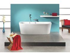 Freistehende Badewanne Messina 180x79 cm weiß mit Ablaufgarnitur Klick-Klack jetzt kaufen bei HORNBACH Österreich