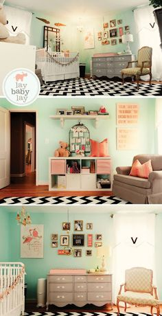 Baby room idea- love the wall color @Sarah Chintomby Smith Sarah Bridges...this just looks like your babies room.  And yes, I meant that in the plural form.