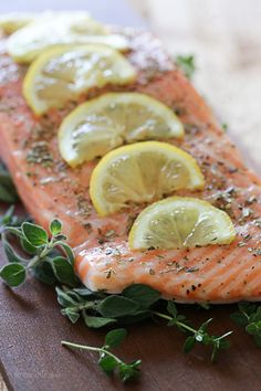 Grilled Mediterranean Cedar Plank Salmon – foolproof recipe to make on the grill! Whole30 friendly!