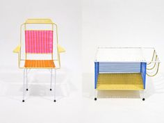 Very cool Marni furniture with an interesting story. Made by Colombian prison inmates as part of their social rehab program with proceeds are going to a jail for moms with kids in Milan.