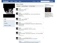 """Le """"mur"""" d'un utilisateur, en 2009. Cela fait alors un an que le monstre créé par Mark Zuckerberg dépasse l'ex-référence des réseaux sociaux, MySpace. Facebook récupère aussi 100 000 utilsateurs par mois a """" MSN Messenger"""""""