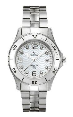 Bulova Woman's 98P004 Marine Star Calendar Watch Bulova