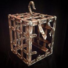 craft foam & googly eyes cage HF member