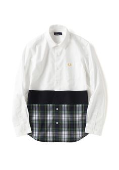 Tartan Panelled Shirt | FRED PERRY JAPAN | フレッドペリー日本公式サイト Androgynous Clothing, Fred Perry, Tartan, Chef Jackets, Clothes For Women, Pattern, Shirts, Fashion, Outerwear Women