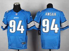 NFL Detroit Lions #94 Ziggy Ansah Blue Team Color Men's Stitched NFL Elite Jersey