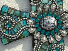 Believe - Mosaic Cross via Etsy.