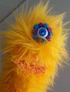 Yellow worm hand puppet by PaisleysPuppets on Etsy Hand Puppets, Worms, Paisley, Hands, Yellow, Fabric, Handmade, Etsy, Tejido