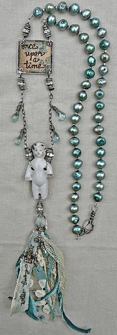 little mermaid  Idea only; great site on finding unique items from nature to use in jewelry.