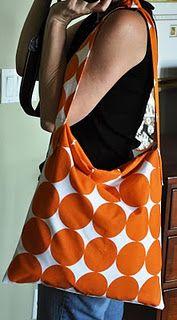 pillowcase into messenger bag :)