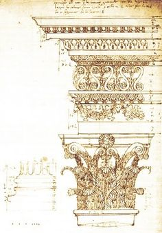 Andrea Palladio - exploratory drawing
