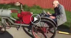 """Avô De 94 Anos Transforma Trator e Cria o Mais Divertido """"Comboio"""" Para Os Seus Netos http://www.funco.biz/avo-94-anos-transforma-trator-cria-divertido-comboio-para-os-seus-netos/"""