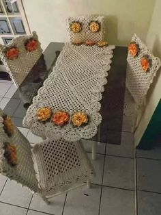 crochet table cloth projects